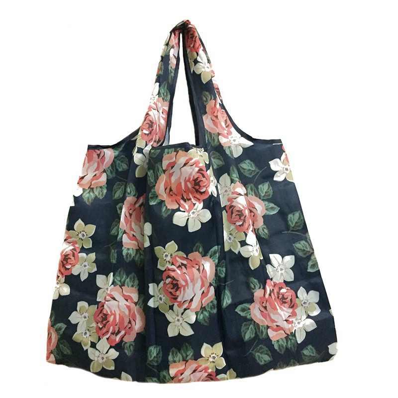 Recyklingu do przechowywania sklep spożywczy składana poręczna na zakupy torba duża torba z rączkami wielokrotnego użytku etui na torebki