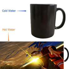 NARUTO mugs Shippuden Anime Sasuke mugs heat changing color heat reveal kid magic beer tea coffee  novelty ceramic kid