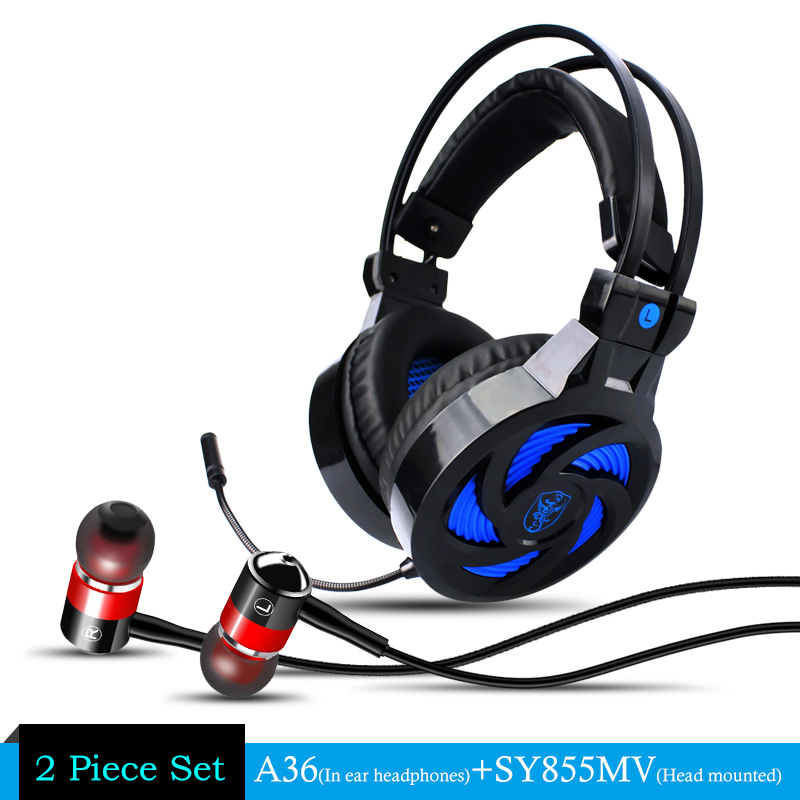 Gaming Headphone casque Soyto SY855 Best Computer Stereo Deep Bass Game Earphone Headset With Microphone for PC Gamer + A36 Gift rock y10 stereo headphone earphone microphone stereo bass wired headset for music computer game with mic