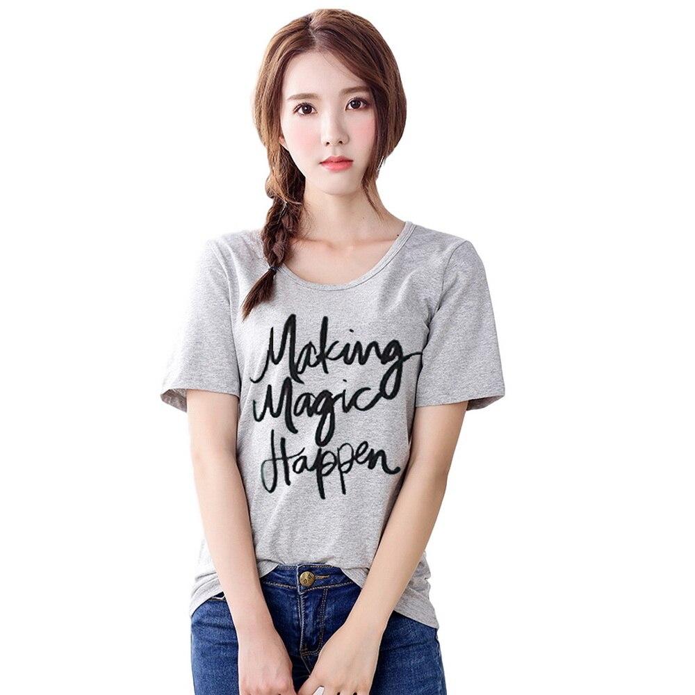34fa4bac2fbef Verano de 2019 las mujeres T camisa magia impresión superior para mujeres  manga corta cuello en O Corea. Camisas mujer ropa en Camisetas de La ropa de  las ...