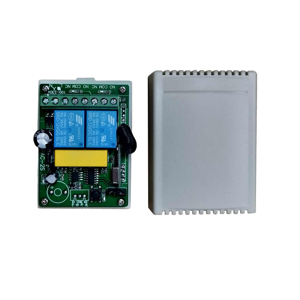 500 m AC 110 V - 220 V 2 2CH รีโมทคอนโทรลไร้สายสวิทช์รีโมทคอนโทรลรีเลย์ตัวรับสัญญาณสมาร์ทบ้าน 315/433 Mhz