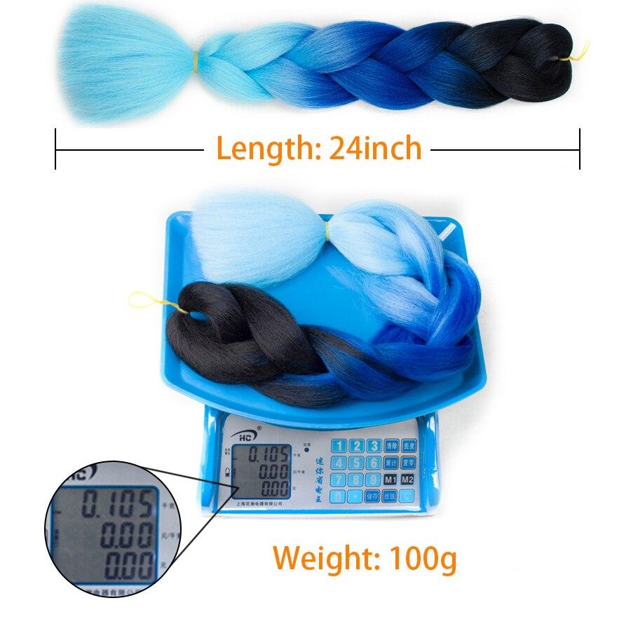 XCCOCO Hår Syntetiska Hårförlängningar Ombre Kanekalon Braiding - Syntetiskt hår - Foto 5