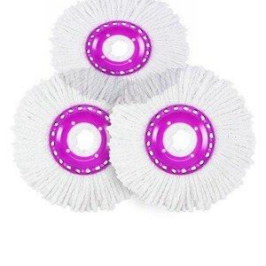 Image 4 - Sihirli Paspas Kovası Kolay Mikrofiber Paspas Dönen Paspas Ev Zemin temizleme seti 4 paspas başlıkları