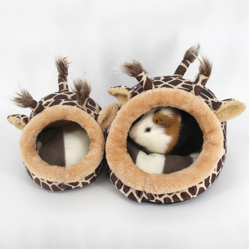 Cute Small Animal Cages Pet Rabbit Hamster House Bed Rat Qquirrel Guinea Pig Winter Warm Hanging Cage Hamster Nest Accessories