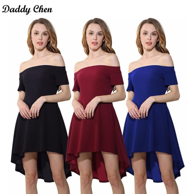 ae9b4891e3c All The Rage Skater Dress Short Sleeve Off Shoulder Slash Neck Irregular  celebrity ladies prom party A Word Shoulder dresses