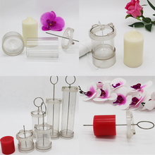 2 Pieces Plastic Flat Top Round Shape Candle Making Mold Tool DIY Candle Making Handmade Candle 15cm 10cm