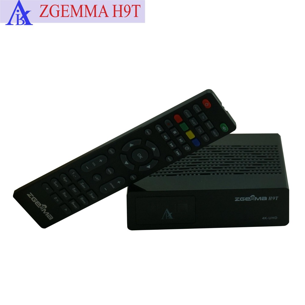 US $219 0 |2pcs/lot ZGEMMA H9T 4K UHD TV Box Linux OS E2 H 265/HEVC QT  Stalker Multistream With One DVB T2/C Hybrid Cable Tuner-in Satellite TV