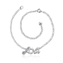 925 Silver charm Anklets For Women Anklet Bracelet Foot Jewelry Barefoot Sandals Anklets Leg Chain Love Anklet Ankle Chains