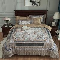 Египетский хлопок Роскошный Королевский дворец Комплект постельного белья Король Королева Размер Бохо 3d принт комплект постельного белья