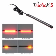 12V Universal 32 LED 8 Flexible Motorcycle Light Strip Brake Tail Turn Signal Stop Integrated Lamp