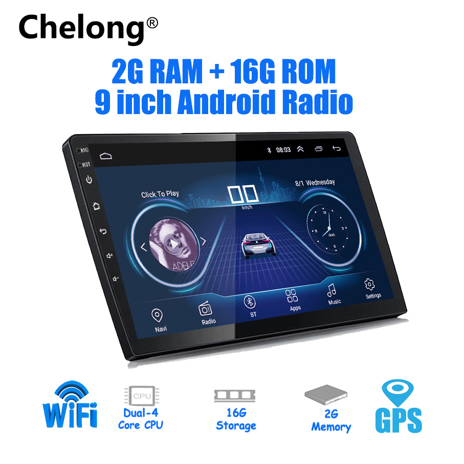 9/10 inch Android 8.1 universal Car Player 2 din 2G RAM+16G ROM android car radio GPS NAVIGATION WIFI Bluetooth MP5 Rear CAM9/10 inch Android 8.1 universal Car Player 2 din 2G RAM+16G ROM android car radio GPS NAVIGATION WIFI Bluetooth MP5 Rear CAM