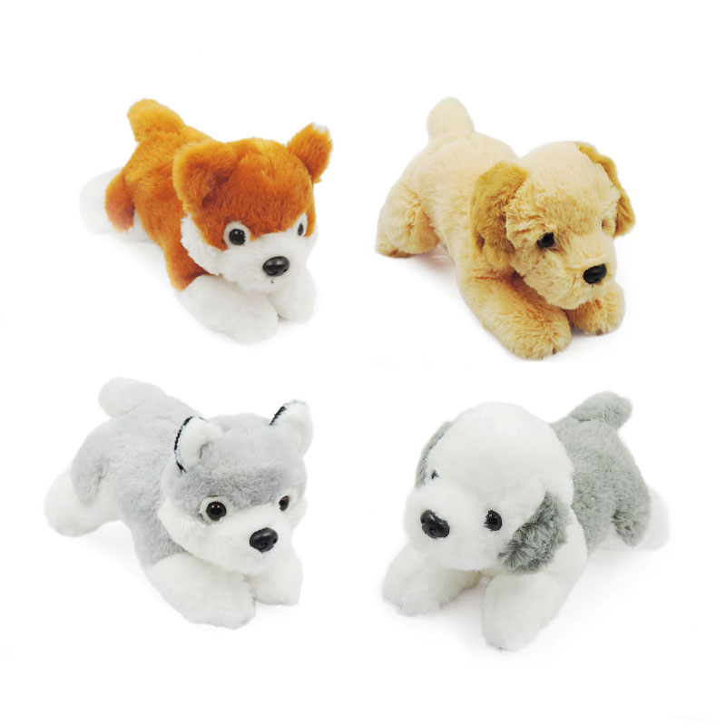 (4pcs/lot) Wholesale 20cm Small Puppy Dogs Soft Toys Stuffed Animals Doggie Baby Kids Toy for Children Gifts Peluche Brinquedos  цена и фото