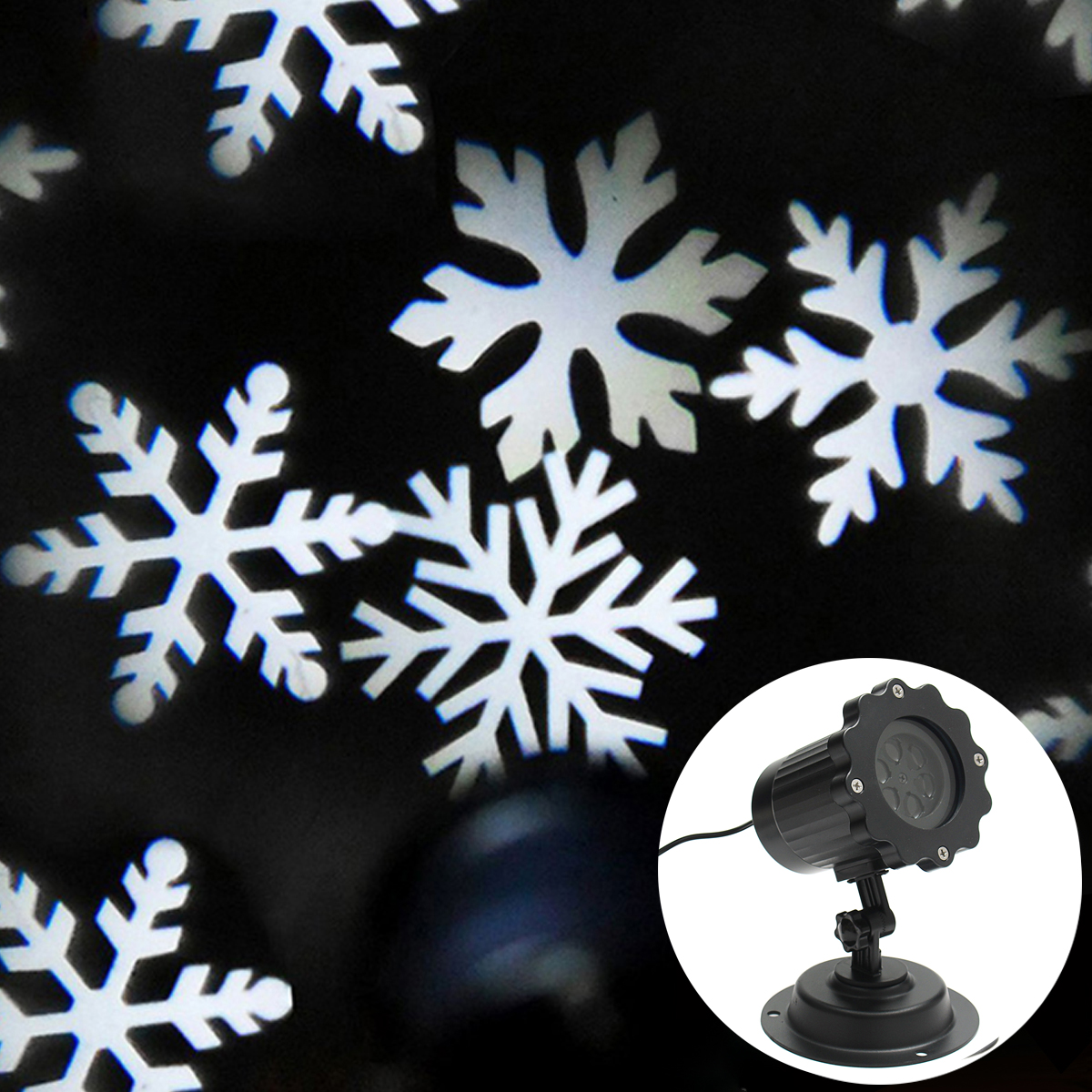 Christmas 100-240V Outdoor Moving Laser White Snowflakes Projector LED Light EU/US/AU/UK Waterproof 4 LED Lights Stage Lighting zjright waterproof moving laser projector lamps snowflakes led stage christmas party garden outdoor floor indoor decor lighting