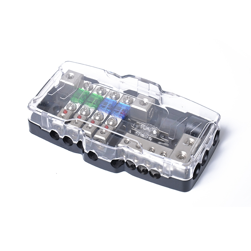 Led Car Audio Stereo Distribution Block Ground Mini Anl Fuse 4 In 220 Screw Box Packaged 1 Multi Functional With Extra And Tool