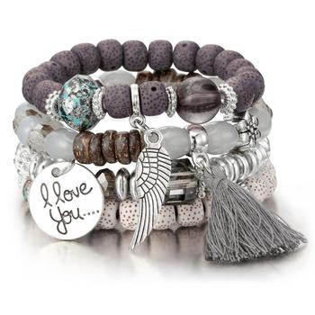 Women's Boho Style Stone Charm Bracelet Bracelets Jewelry New Arrivals Women Jewelry Metal Color: SL1030