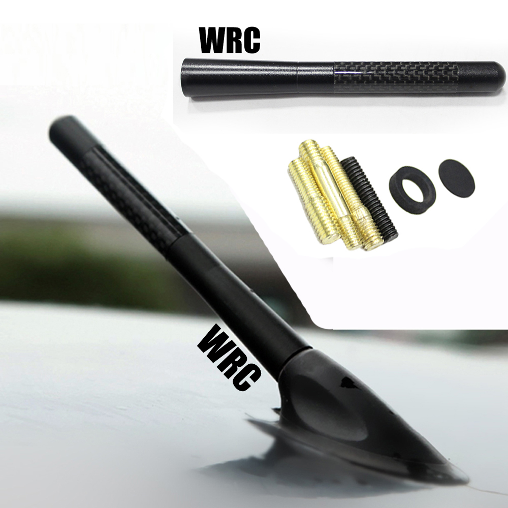 Wrc carbon fiber fiber short antenna radio antenna car for Antenna decoration