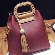 2016 New Leisure Wild PU Fringed Tassel Shoulder Bags Women Handbag Women s Messenger Bag