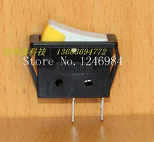 [SA]HIGHLY HIGHLY power switch rocker rocker switch R11-00 R11-2A long flat black side white yellow--100PCS/LOT(China)
