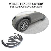 A Style Black Wide Wheel Fender Flares Covers For Audi Q5 SUV 2009 2016 Non Sline Wheel Arch Eyebrows Mud Flaps Guard Trims