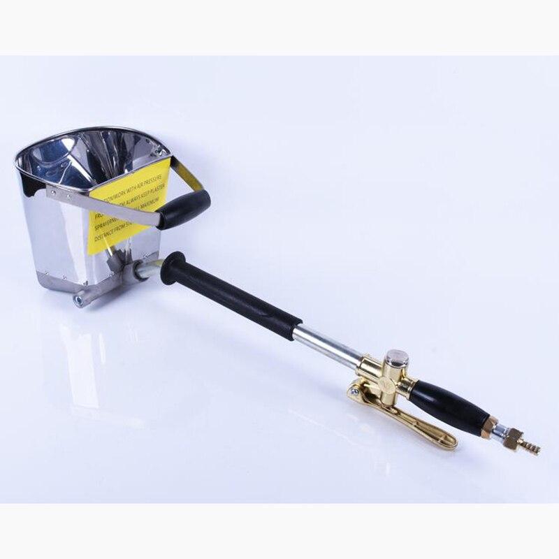 Pistolet de pulvérisation de mortier de ciment portatif pneumatique de mur pulvérisateur de mortier de gypse de rendement élevé enduisant le pistolet de pulvérisation de quatre trous