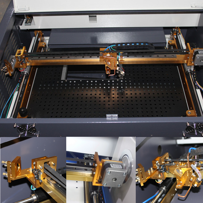 Free shipping 3040 50W color touch screen Ruida laser cutting machine HF 3040 co2 50w automatic cloth cutting machine - 5