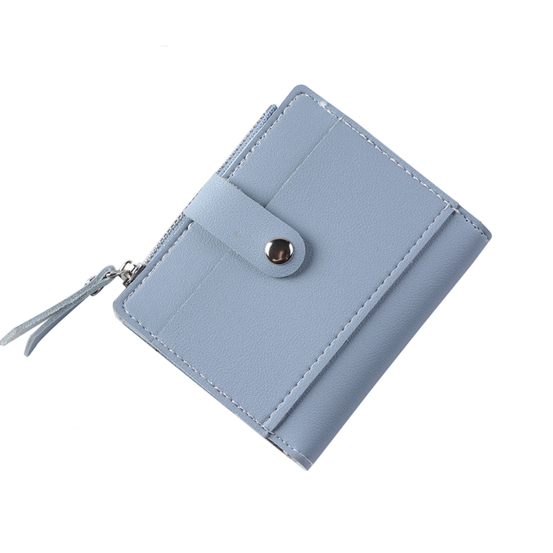 цена Women Wallet Lady Coin Purse Leather Wallet Female Card Photo Holder Hasp Zipper Solid Fashion Small Women Wallet Change Purse