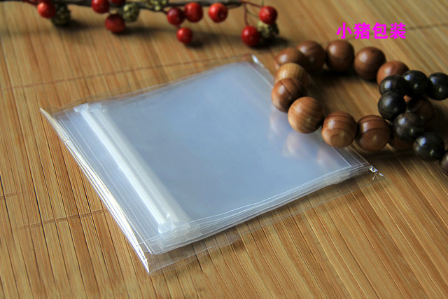 [4Y4A] 100pcs/Lot PPE jewelry bagthick ziplock bag Accept customized logo pack transparent 5