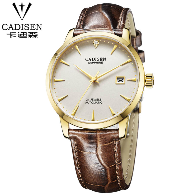 Swiss brand watches mechanical font b leather b font watches font b men b font business