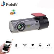 Podofo Смарт Wi-Fi DVR Cam 130 градусов беспроводной автомобиль тире Cam 1080P Full HD ночь версия g-сенсор вождения регистраторы sony камера
