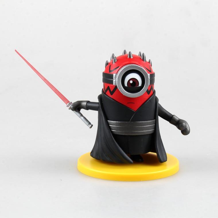 4pcsset 8cm Cute Minions Cos Darth Vader Darth Maul Stormtrooper