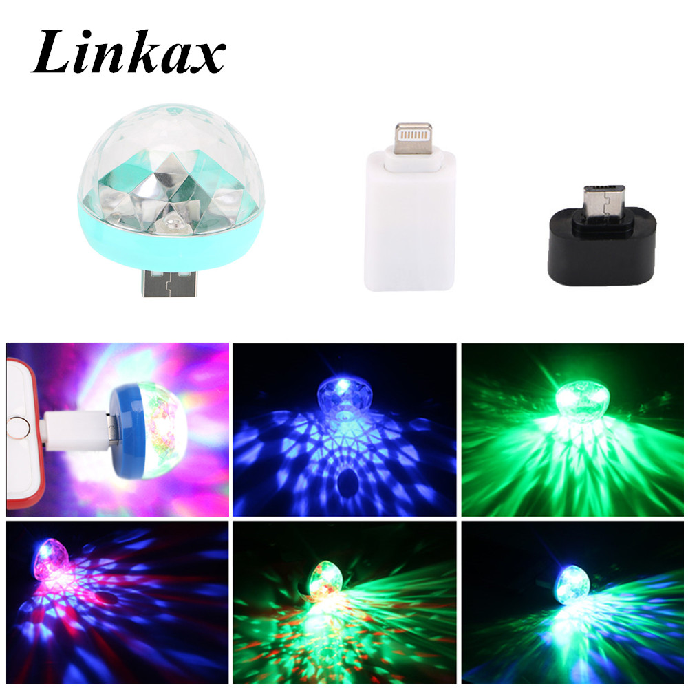 Home Disco Lights: Mini USB LED Party Stage Lights Portable Crystal Magic
