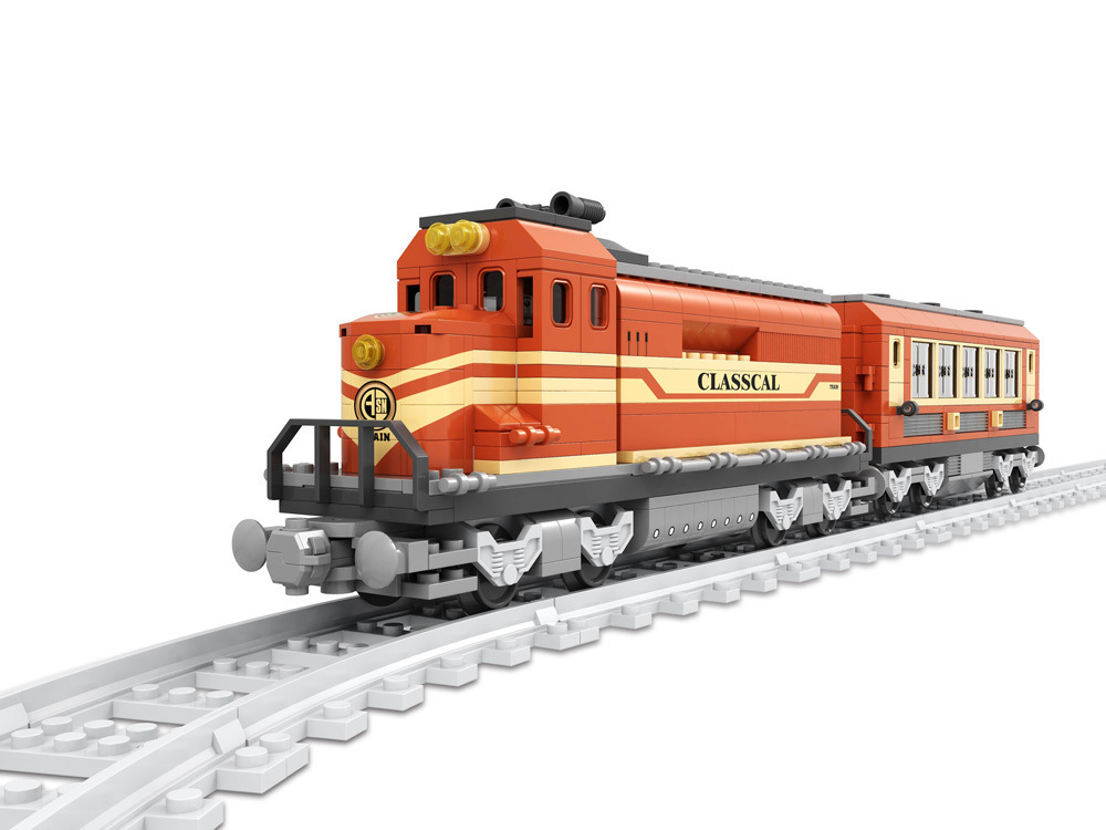 Model building kits compatible with lego city Transportation Track Train 1032 3D blocks Educational toys hobbies for children ausini model building kits compatible with lego city transportation train 1025 3d blocks educational toys hobbies for children