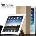 Para apple ipad 2/ipad 3 10.1 polegada inteligente do sono da tampa do caso, ultra slim deformar designer tablet caso capa de couro para o ipad 4