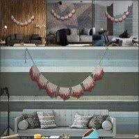 Rojo teñido algodón cadena tapices decorativos artesanías hogar Fondos pared murales colgantes ornamento Tapices