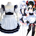 Japan Anime DATE A LIVE Cosplay Tokisaki Kurumi Kawaii Lolita Maid Dres Costume New Free Shipping