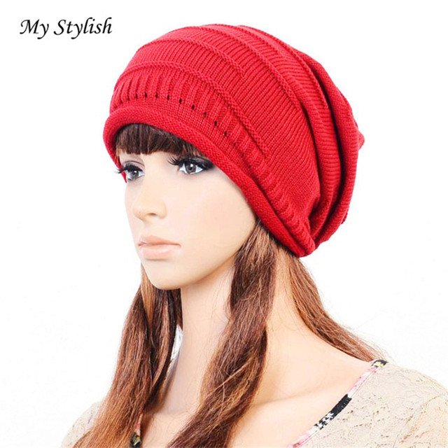 1d1cd5af86c 1PCSWomen Winter Crochet Hat Wool Knit Beanie Warm Caps Stylish Nov ...