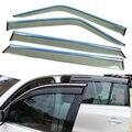 4 шт./лот стайлинга автомобилей вентиляционные тень вс защиту от дождя стекла крышка козырек аксессуары для LiFan X60 2011 2012 2013 2014 2015