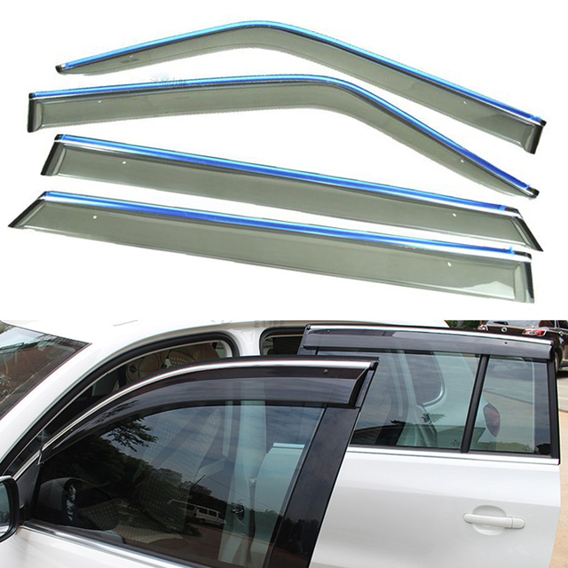 4pcs/Lot Car Styling Vent Shade Sun Rain Guard Cover Window Visor Accessories For LiFan X60 2011 2012 2013 2014 2015