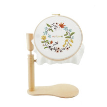 Wood Embroidery and Cross Stitch Hoop Set Ring Frame Adjustable Sewing Tools Stand