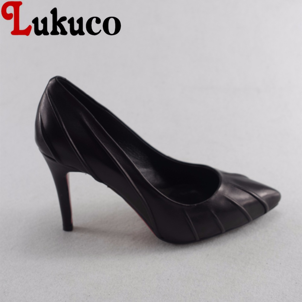 Lukuco sexy pure color women pointed toe party pumps microfiber made pleated design high thin heel shoes with pigskin inside lukuco pure color women mid calf boots microfiber made buckle design low hoof heel zip shoes with short plush inside