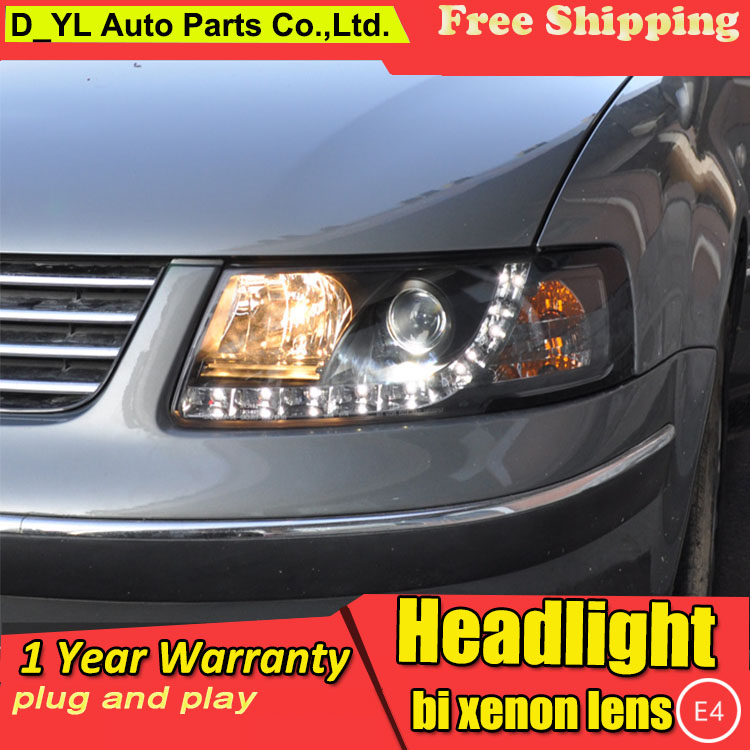 D YL Car Styling for VW Passat B5 Headlights 2000 2005 Passat LED Headlight DRL Lens