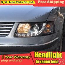 D_YL автомобильный Стайлинг для VW Passat B5 фары 2000-2005 Passat светодиодный фары DRL Объектив двойной луч H7 HID Ксеноновые би ксеноновые линзы