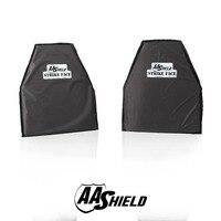 AA щит пуленепробиваемые мягкие Панель доспех безопасности пластины арамидных самообороны пловец резки NIJ Lvl IIIA и HG2 10x12 #3 пара