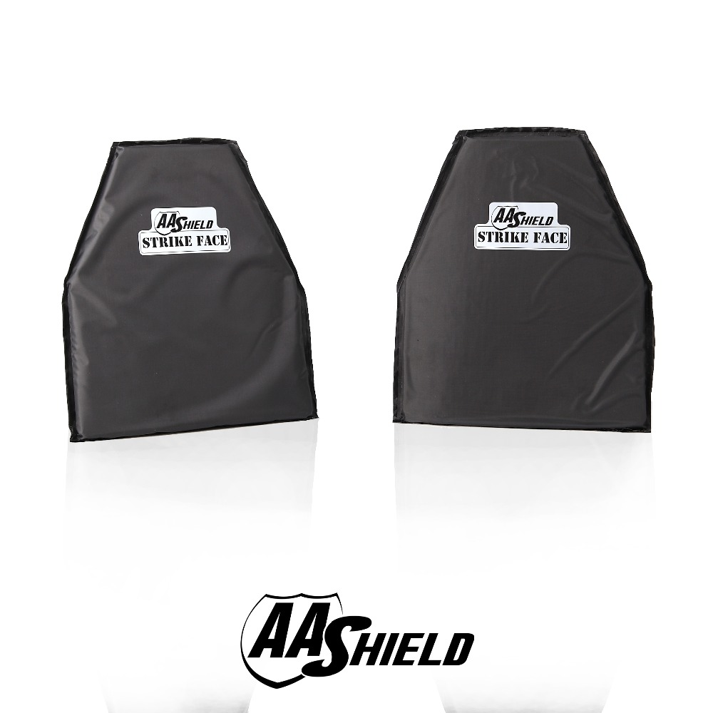 AA Shield Bullet Proof Soft Panel Body Armor Safety Plate Aramid Self Defense Swimmer Cutting NIJ Lvl IIIA & HG2 10x12 #3 Pair