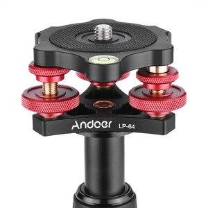 "Image 3 - Andoer lp 64 카메라 삼각대 헤드 레벨링베이스 트라이 휠 정밀 레벨러 (버블 레벨 포함) 3/8 ""나사 알루미늄 합금로드 15 kg"