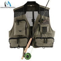 Maximumcatch Top Quality Breathable Men's Fly Fishing Vest Outdoor Mesh/Multi Pockets Super Light Fishing Jacket