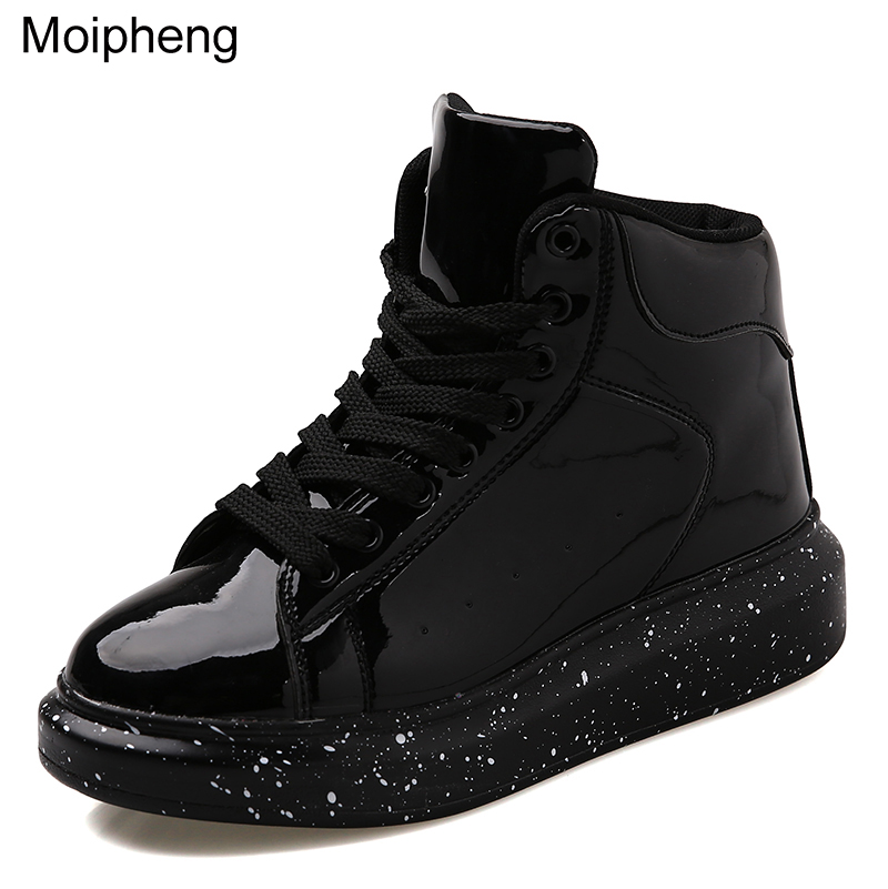 Moipheng Snow Boots Women 2019 Autumn Early Winter Thick Bottom High Upper Board Shoes Fashion Mirror Ankle Boots Lovers Shoes-in Ankle Boots from Shoes