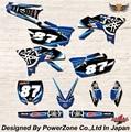 WR YZ YZF 125 250 400 450 Команда Графика Фоны наклейки Наклейки FX Двигателя кроссового Мотоцикла Байк MX Гонки части