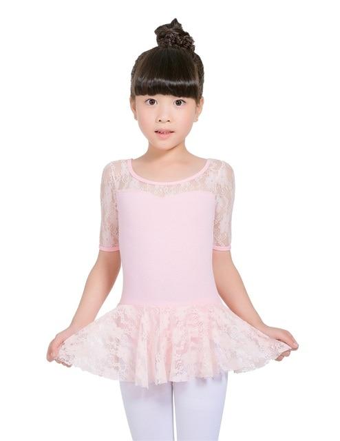 3a4556444311 Girls Lace Short Sleeve Leotards TuTu Skirt Dress for children Teen ...