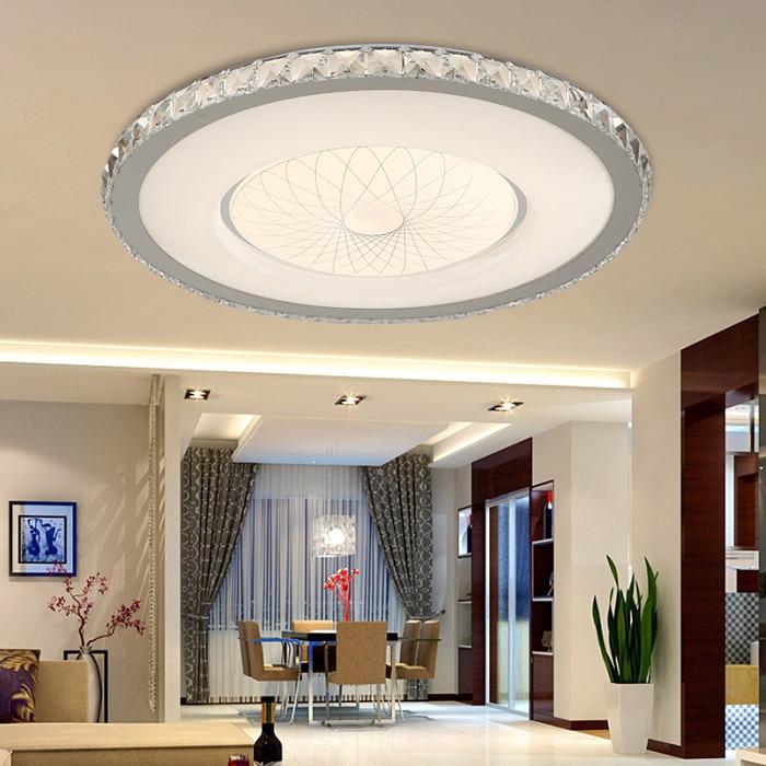 led ronde plafond lampe nouveau moderne ac220v plafond lumire pour chambre salon maison appareils ligthing lumire led pour la maison chaude dans - Ventilateur De Plafond Pour Chambre
